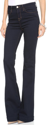 J Brand The Doll High Waist Bell Bottom Jean $198 thestylecure.com