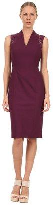 Rachel Roy Lace Combo Dress (Wild Plum) - Apparel