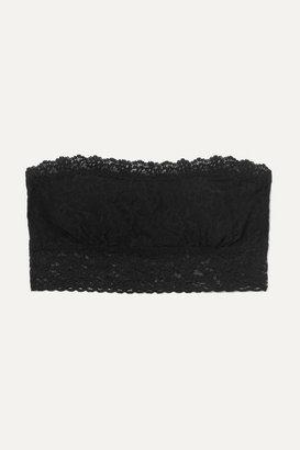 Hanky Panky Signature Stretch-lace Soft-cup Bandeau Bra - Black