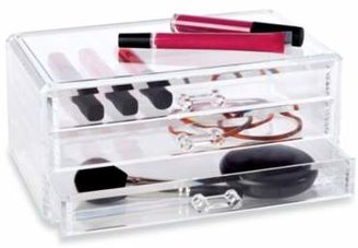 Clear 3-Drawer Cosmetic Organizer $14.99 thestylecure.com