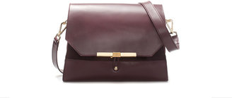 Zara Leather City Bag With Clasp Fastening