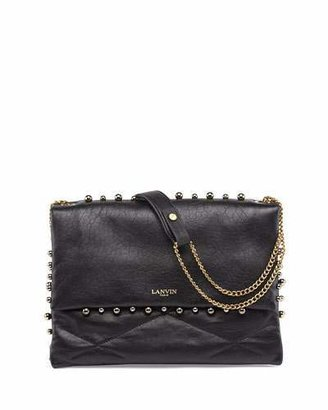 Lanvin Sugar Studded Shoulder Bag, Black $2,490 thestylecure.com