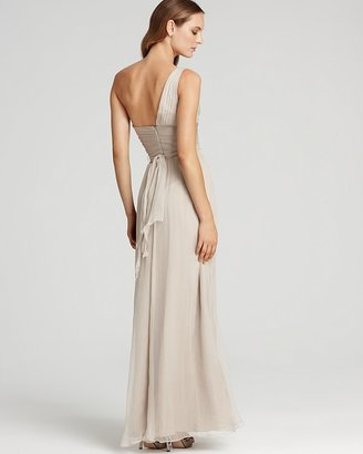 Amsale One-Shoulder Sash Gown