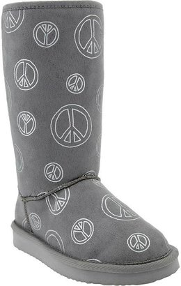 Old Navy Girls Peace Print Boots
