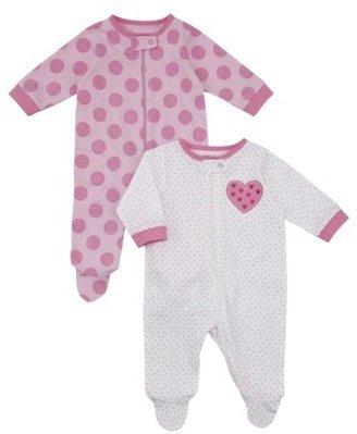 Gerber Onesies® Newborn Girls' 2 Pack Sleep N' Play - Pink