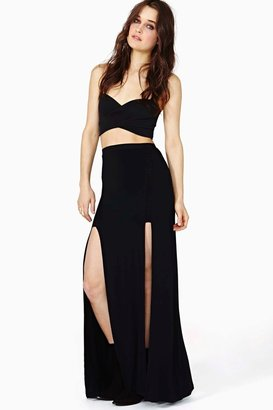Nasty Gal Double Take Maxi Skirt