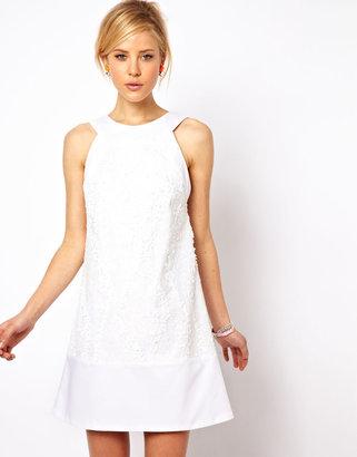 Asos Mini Shift Dress In Sequin Lace