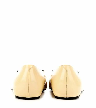 Roger Vivier U leather ballerinas