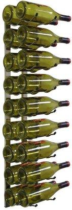 Epicureanist 18-Bottle Metal Wine Rack in Nickel