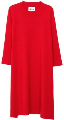 Arela Dolly Merino Wool Dress In Red