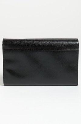 Halogen Saffiano Leather Clutch