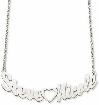 54e4e6c84b FINE JEWELRY Personalized Sterling Silver Couples Name Necklace