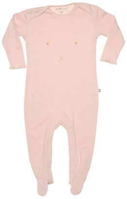 Oeuf Organic Bunny Footie in Pink