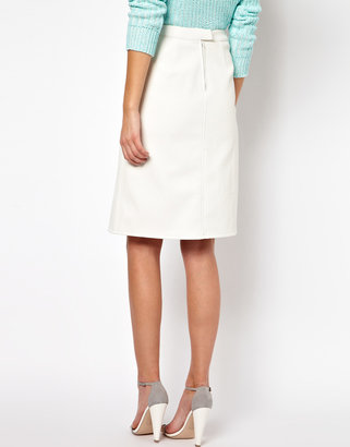 ASOS A-Line Skirt in Leather Look