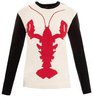 Tibi Lobster intarsia-knit sweater
