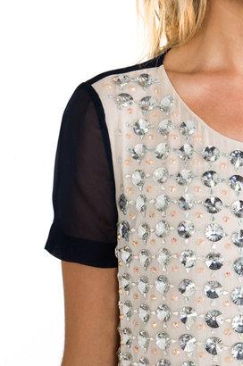 Diane von Furstenberg Gidget Rounded Crystal Top
