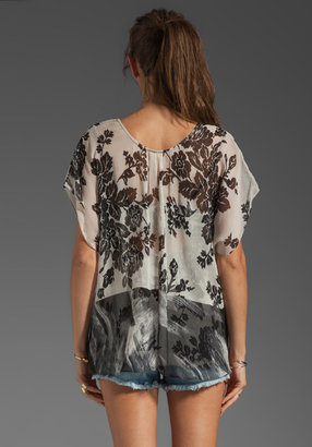 Tracy Reese Mash-Up Silk Print Convertible T