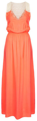 Topshop Crochet Panel Maxi Dress