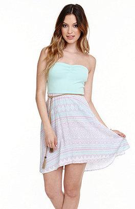 Roxy Fabric Mix Strapless Dress