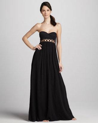 Mara Hoffman Frida Strapless Maxi Dress.