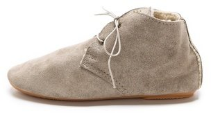 Anniel Sherpa Lined Soft Lace Up Booties