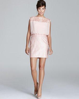 Aqua Dress - Sequin Lace Blouson