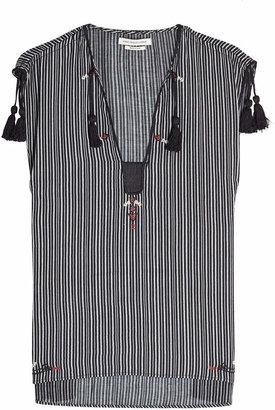 Etoile Isabel Marant Sleeveless Cotton Top with Tassels