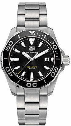 Tag Heuer Aquaracer WAY111A.BA0928 Silvertone Analog Bracelet Watch