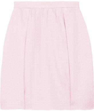 J.Crew Box-pleat cotton and silk-blend jacquard mini skirt