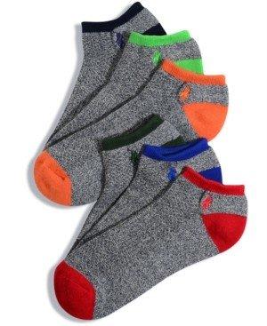 Polo Ralph Lauren Men's Socks, Athletic Liner 6 Pack