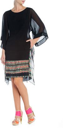 BCBGMAXAZRIA Runway Colette Draped-Hem Dress