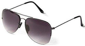 Mng By Mango® Black & Silver Aviator Sunglasses