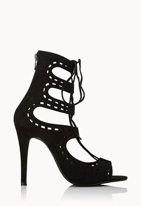 Forever 21 Perforated Stiletto Heels