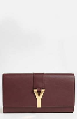 Saint Laurent 'Y' Leather Clutch