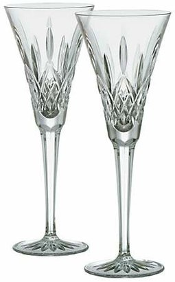 Waterford Set of Two Lismore Crystal Toasting Flutes