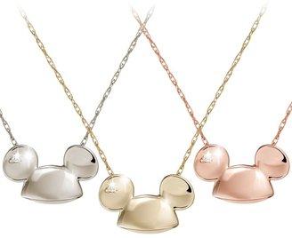 Disney Mickey Mouse Diamond Necklace 18 Karat Gold Ear Hat