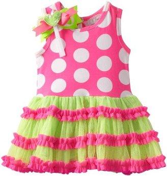Rare Editions Baby Baby-Girls Newborn Dot Tutu Dress
