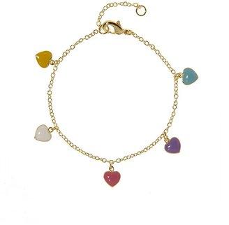 BaubleBar Heart Charm Bracelet