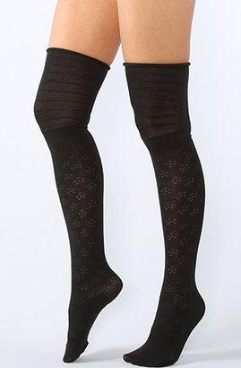 K. Bell The Daisy Textured Over the Knee Socks in Cream