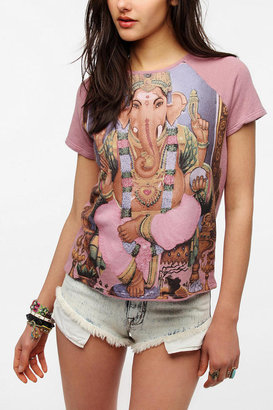 Truly Madly Deeply Ganesha Short-Sleeved Sweatshirt