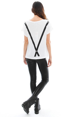 Wildfox Couture Bartender Lazy Weekend Tee in Clean White