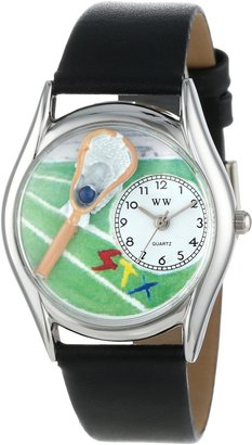 Whimsical Watches Women's S0820001 Lacrosse Black Leather Watch