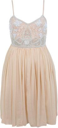 Miss Selfridge Pink bead bodice dress