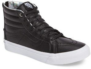Women's Vans 'Sk8-Hi Slim' Metallic Leather Sneaker $74.95 thestylecure.com
