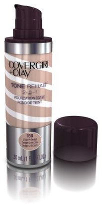 COVERGIRL and Olay Tonerehab 2-In-1 Foundation, Creamy Beige 150, 1 Fluid Ounce $10.46 thestylecure.com