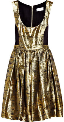 Adam Metallic jacquard dress