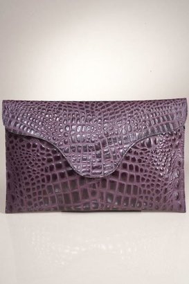 JJ Winters Blake Lively Croco Envelope Clutch in Purple
