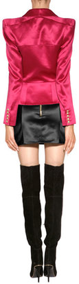 Balmain Suede Over-the-Knee Boots in Black