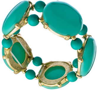Blu Bijoux Gold and Turquoise Bubble Stretch Bracelet