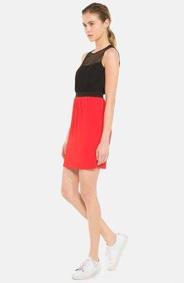 Sandro 'Rose' Woven Blouson Dress